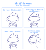 Mr Whiskers and the tuna can by SmokyJack