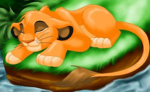 Simba sleeping by viwi