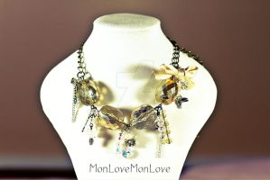 Gold with Silver Necklace by MonLoveMonLove