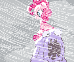 Smooze and Pinkie in a blizzard by mrwoo6