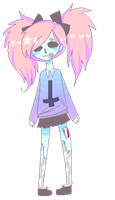 Whatcha doin zombie girl by PastelCannibal