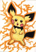 Pokemon ACEO - Pichu by bittykitty
