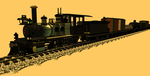 24 inch gauge 4-4-0 and train 02 by dinodanthetrainman
