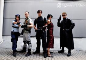Resident Evil group Cosplay by PrincessRiN0a