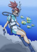 Digimon - Rika Scuba - Color by DaStigy