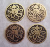Octopus Pendants by creativeetching