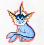 Vaporeon is cute by LekiTembara