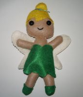 Tinkerbell Plushie by kiddomerriweather