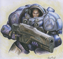 StarCraft Marine by czarek986