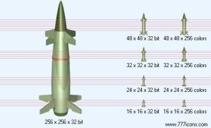 Missile Icon by military-icons