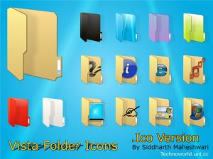 Vista Folder Icons    Ico ver  by SiddharthMaheshwari Iconos para Windows XP