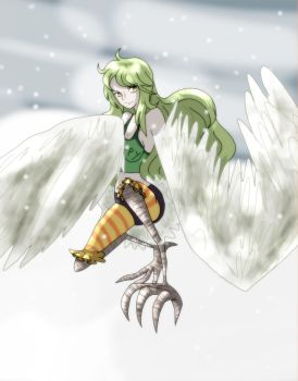 the harpy Mone [One Piece] by mingmiyu
