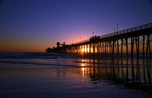 Oceanside pier at sunset by ShannonCPhotography