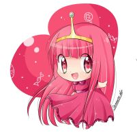 princess bubblegum chibi anime by keitenstudio