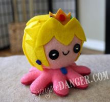 Princess Peach octo-plushie by jaynedanger