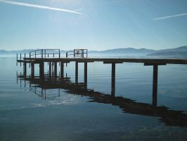 The Private Pier at Tahoe by TheSkyWolves
