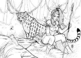 Jungle Friends - Inks by AberrantKitty