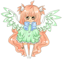 .:Chibi - Adopted Angel OC:. by roeky