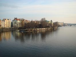River in Prague by LadyScale