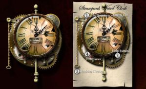 Steampunk Weird Clock Yahoo Widget and Icons by yereverluvinuncleber