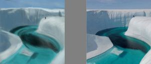 Ice Canyon Greenland_Colour study by Chachava