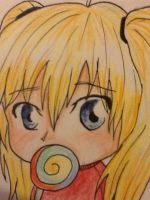 chibi with lollipop :3 by oOkikiOo
