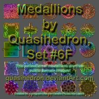 QH-Medallions-Colorful-Set#6F by quasihedron