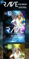 Rave PSD Party Flyer Template by ImperialFlyers