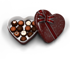 Heart Shaped Box of Chocolates by ArtReferenceSource