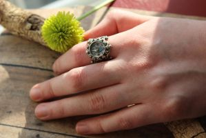 Compass Ring Victorian Charm real working by artistiquejewelry