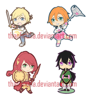 RWBY: Team JNPR Charm Preview by ThanhnuFia