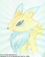 A painting of Renamon by yuski