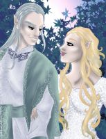 Celeborn and Galadriel by hollano
