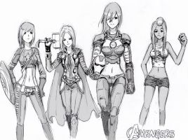 [parody] Avengers (Female Version) by bmad95