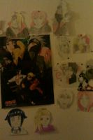 My Naruto Wall by CoolShazza