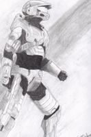 Master Chief Sketch by Hiro-Hex