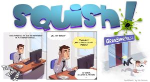 SQUISH! comic strip 01 by EduHerrera