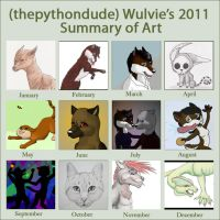 Wulvie's Art Summary 2011 by Wulvie-leigh