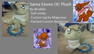 Sama OC Eevee Pokedoll by theamazingwrabbit