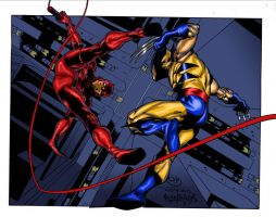 DD VS Wolvie in Color by PeterPalmiotti
