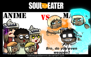 Soul Eater Anime vs. Manga: A LOT OF PPL by nobodygoddammit