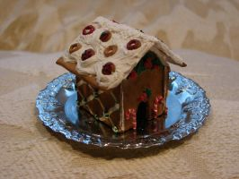 First Clay Gingerbread House by yobanda