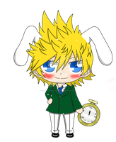 .:Roxas the rabbit:. by SaruwatariKazuko