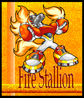Fire Stallion. by Virus-20
