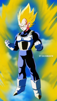 super saiyajin vegeta by salvamakoto