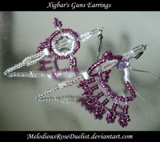 Xigbar's Guns Earrings by MelodiousRoseDuelist