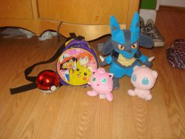 Some of my Pokemon stuff by cali-cat