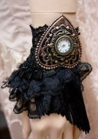 Retro Glamour gothic watch cuff I by Pinkabsinthe