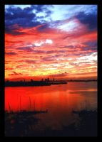 Sunset Harbor by GalacticWarrior
