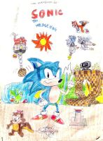Sonic the Hedgehog comic book by Gardek